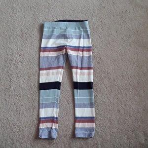 Old navy 5T multiple colored stripe leggings